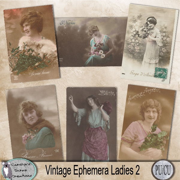 Vintage Ephemera Ladies 2