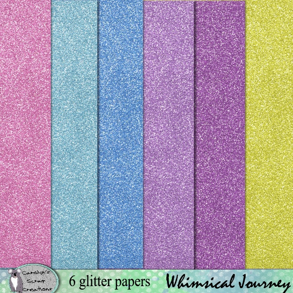 Whimisical Journey glitter papers
