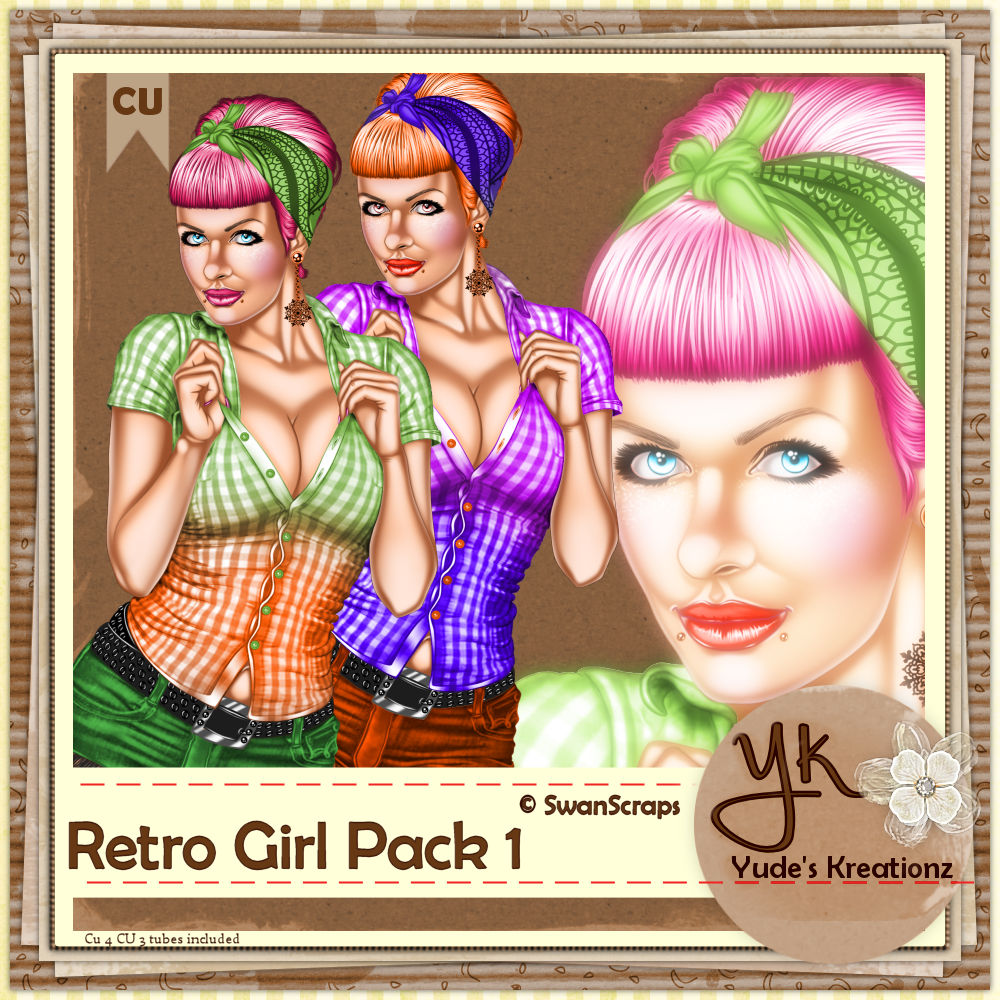 Retro Girl Pack 1