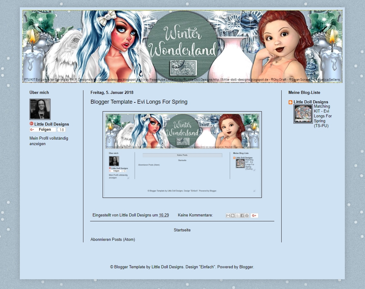 Blogger Template Evi Longs For Spring
